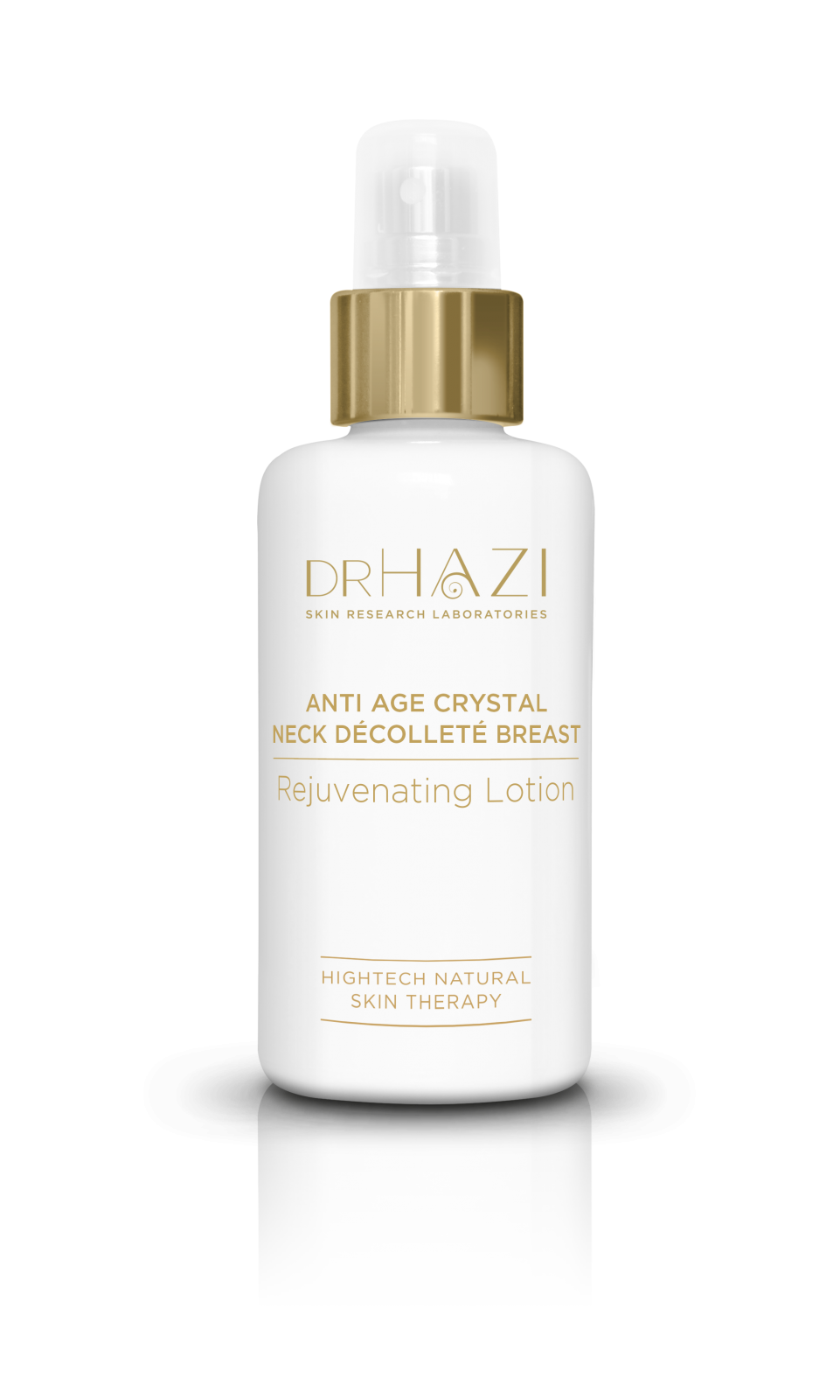 Luxury women skin rejuvenation with nanopeptids and crystals Crystal Neck, Decollete', Breast Rejuvenating Lotion